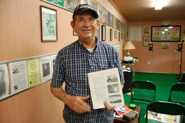 Pete O'Dell holds a previous article written about his life as a Hank Williams impersonator.