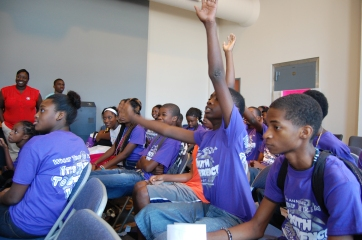 Students were encouraged to ask questions and probe their peers to think critically. (Photo by Nathan Simone)
