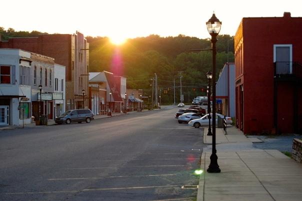 sunset in Collinsville